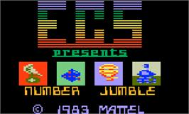 Title screen of Number Jumble on the Mattel Intellivision.