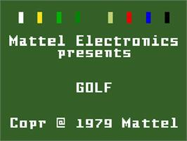 Title screen of PGA Golf on the Mattel Intellivision.
