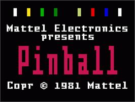 Title screen of Pinball on the Mattel Intellivision.
