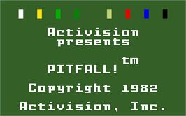 Title screen of Pitfall on the Mattel Intellivision.