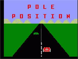 Title screen of Pole Position on the Mattel Intellivision.