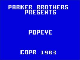 Title screen of Popeye on the Mattel Intellivision.