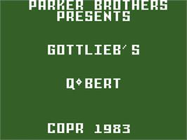 Title screen of Q*bert on the Mattel Intellivision.