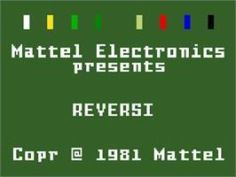 Title screen of Reversi on the Mattel Intellivision.