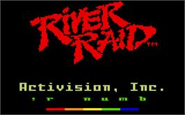 Title screen of River Raid (Version 1) on the Mattel Intellivision.
