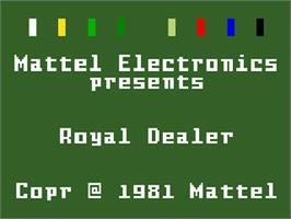 Title screen of Royal Dealer on the Mattel Intellivision.