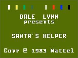 Title screen of Santa's Helper on the Mattel Intellivision.