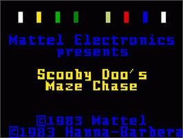 Title screen of Scooby Doo's Maze Chase on the Mattel Intellivision.
