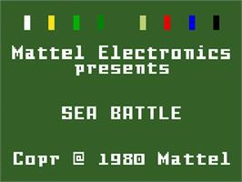 Title screen of Sea Battle on the Mattel Intellivision.