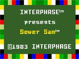 Title screen of Sewer Sam on the Mattel Intellivision.