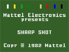 Title screen of Sharp Shot on the Mattel Intellivision.