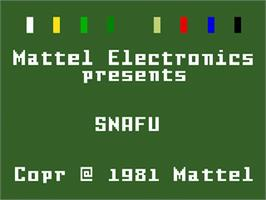 Title screen of Snafu on the Mattel Intellivision.