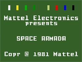Title screen of Space Armada on the Mattel Intellivision.