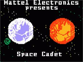 Title screen of Space Cadet on the Mattel Intellivision.