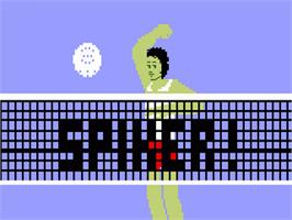 Title screen of Spiker on the Mattel Intellivision.