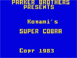 Title screen of Super Cobra on the Mattel Intellivision.