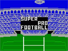 Title screen of Super Pro Football on the Mattel Intellivision.
