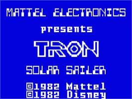 Title screen of TRON: Solar Sailer on the Mattel Intellivision.