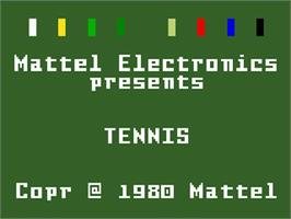 Title screen of Tennis on the Mattel Intellivision.