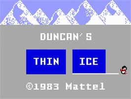 Title screen of Thin Ice on the Mattel Intellivision.