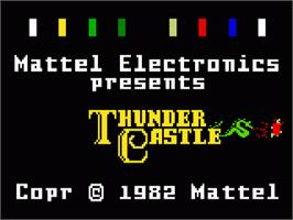 Title screen of Thunder Castle on the Mattel Intellivision.