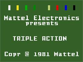 Title screen of Triple Action on the Mattel Intellivision.