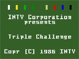 Title screen of Triple Challenge on the Mattel Intellivision.