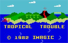 Title screen of Tropical Trouble on the Mattel Intellivision.