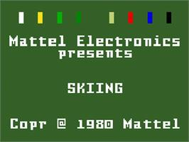 Title screen of U.S. Ski Team Skiing on the Mattel Intellivision.