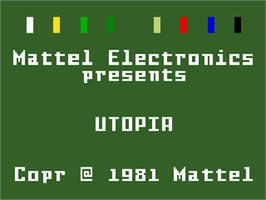 Title screen of Utopia on the Mattel Intellivision.