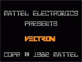 Title screen of Vectron on the Mattel Intellivision.