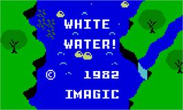 Title screen of White Water on the Mattel Intellivision.