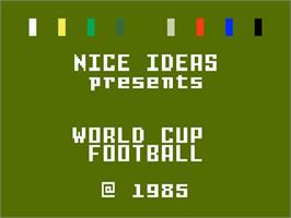 Title screen of World Cup Soccer on the Mattel Intellivision.