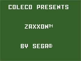 Title screen of Zaxxon on the Mattel Intellivision.