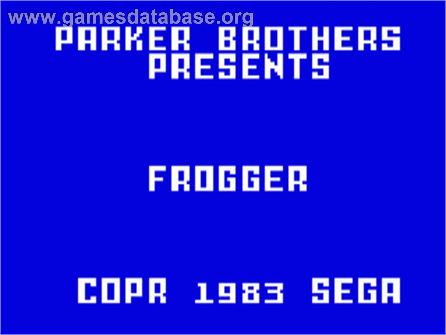Frogger - Mattel Intellivision - Artwork - Title Screen