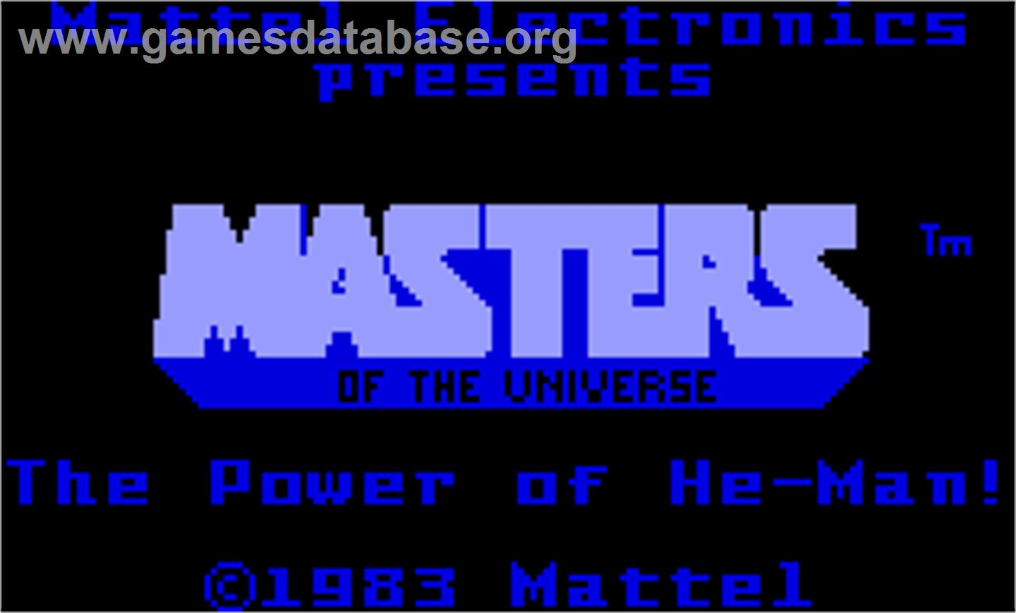 Masters of the Universe: The Power of He-Man - Mattel Intellivision - Artwork - Title Screen