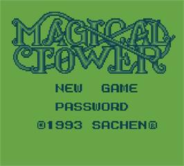 Title screen of Magical Tower on the Mega Duck.