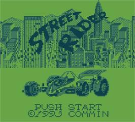 Title screen of Street Rider on the Mega Duck.