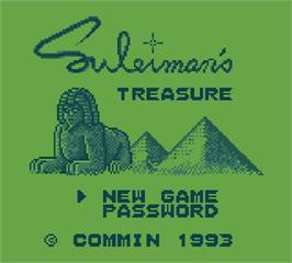 Title screen of Suleimans Treasure on the Mega Duck.