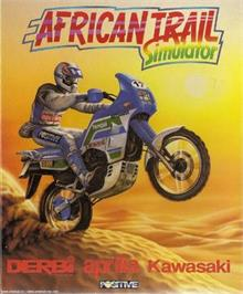 Box cover for African Trail Simulator on the Microsoft DOS.