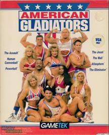 Box cover for American Gladiators on the Microsoft DOS.