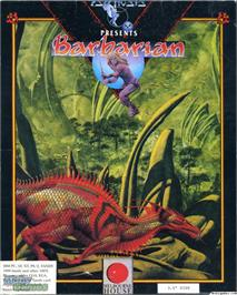 Box cover for Barbarian on the Microsoft DOS.