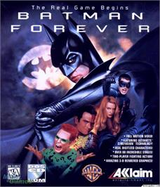 Box cover for Batman Forever on the Microsoft DOS.