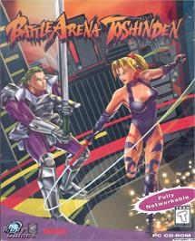 Box cover for Battle Arena Toshinden on the Microsoft DOS.