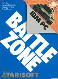 Box cover for Battle Zone on the Microsoft DOS.