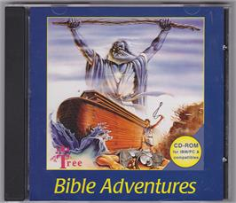 Box cover for Bible Adventures on the Microsoft DOS.
