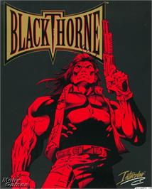 Box cover for Blackthorne on the Microsoft DOS.
