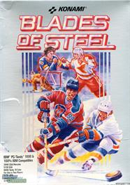 Box cover for Blades of Steel on the Microsoft DOS.