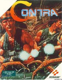 Box cover for Contra on the Microsoft DOS.