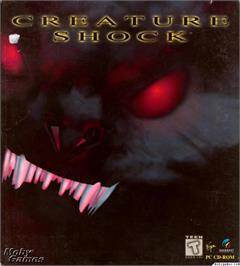 Box cover for Creature Shock on the Microsoft DOS.